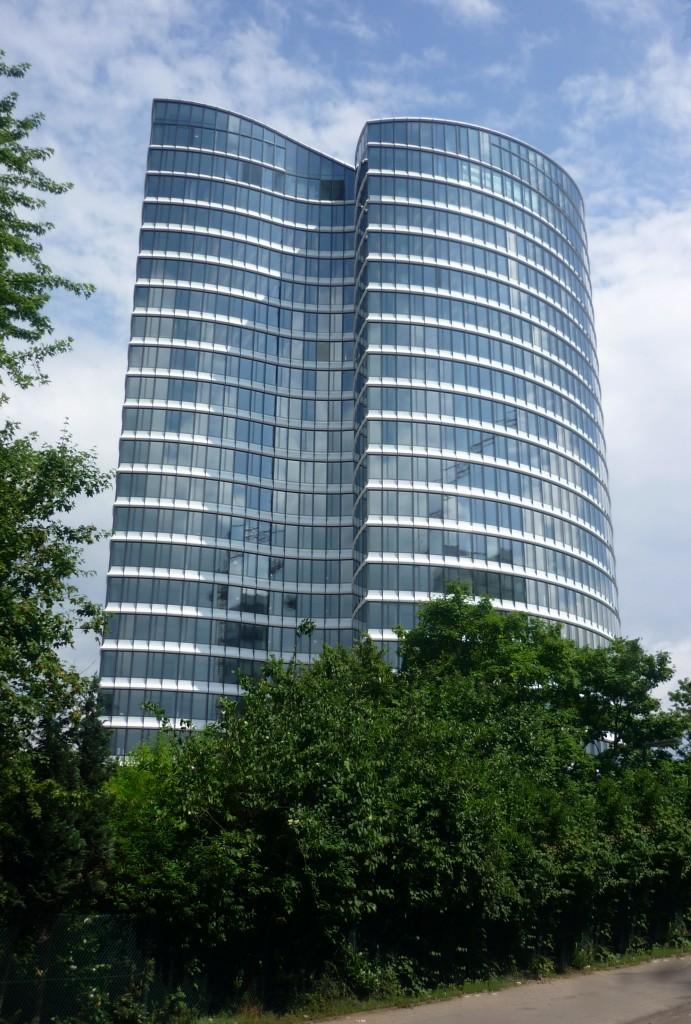 Im Sky-Office, Düsseldorf, von Ingenhoven Architekten, kommt RDA-Technologie zum Einsatz