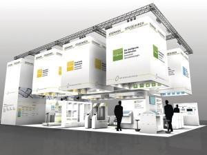 Auf dem Messestand kann der Besucher die einzigartige Produkt- und Servicekette von ESSMANN und STG-BEIKIRCH visuell erleben.